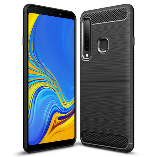 Flexi Carbon Fibre Case for Samsung Galaxy A9 (2018) - Brushed Black